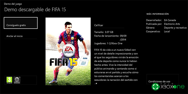 Ya disponible la Demo de FIFA 15 para Xbox One