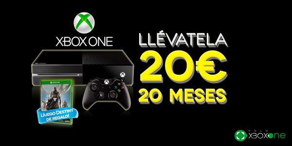 Tu Xbox One más un juego por 20€ al mes en GAME