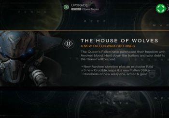 Conoceremos la fecha de lanzamiento de House of Wolves este mes en Destiny