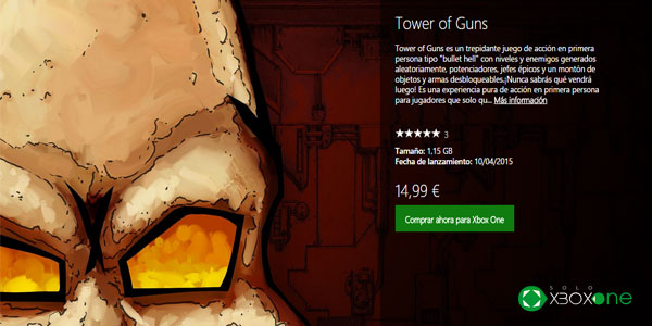 Tower of Guns ya disponible para Xbox One