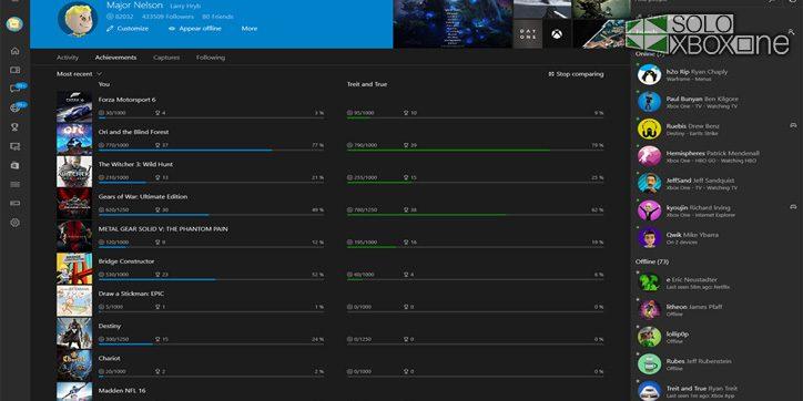 La Xbox App de Windows 10 se actualiza con nuevas funciones