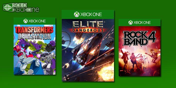 Estos tres juegos ya están a disponibles en Xbox One