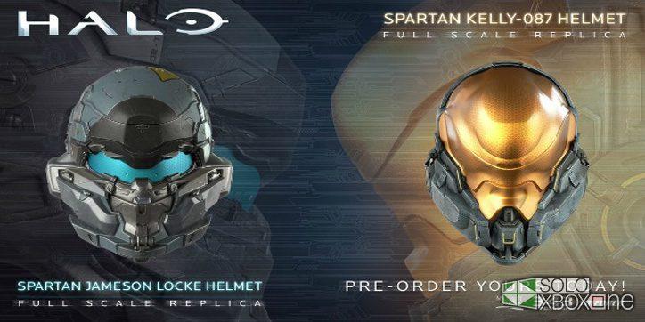 Mira estos cascos a escala del Spartan Locke y de Kelly-087