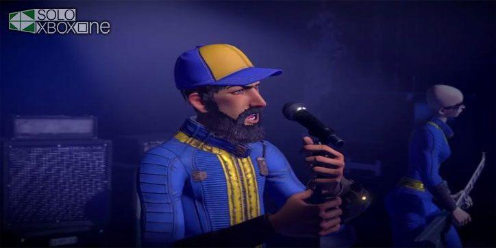 Juega a Rock Band con el traje Vault de Fallout