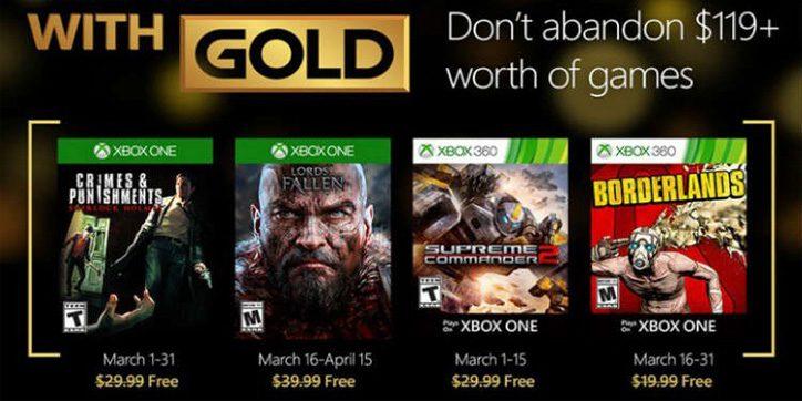 Ya puedes descargar Lords of the Fallen y Borderlands con los Juegos con Gold