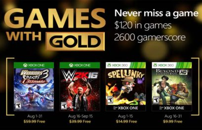 Anunciados los Juegos con Gold del mes de Agosto