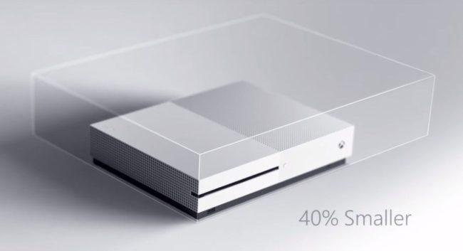 Imagen promocional Xbox One S cuando fue presentada.