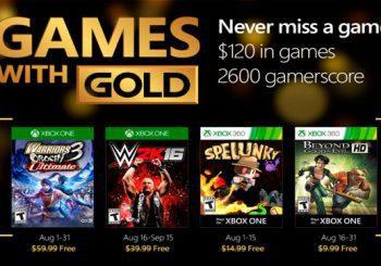 Ya están disponibles los Juegos con Gold de agosto