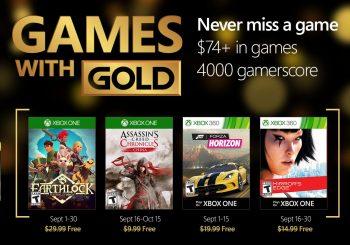 Ya disponibles los nuevos Juegos con Gold del mes de septiembre