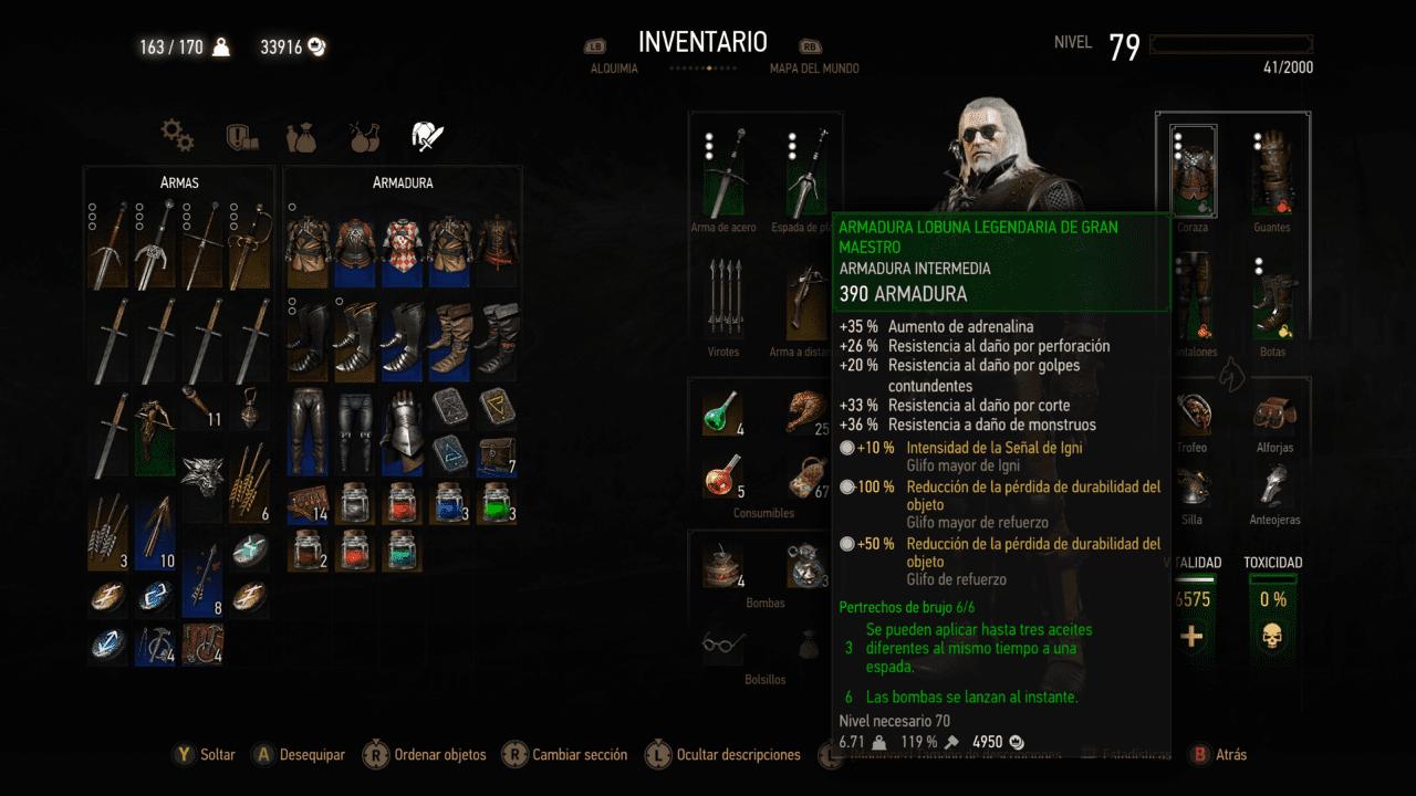 jugabilidad_blood_wine_witcher_3_gran_maestro_generacion_xbox