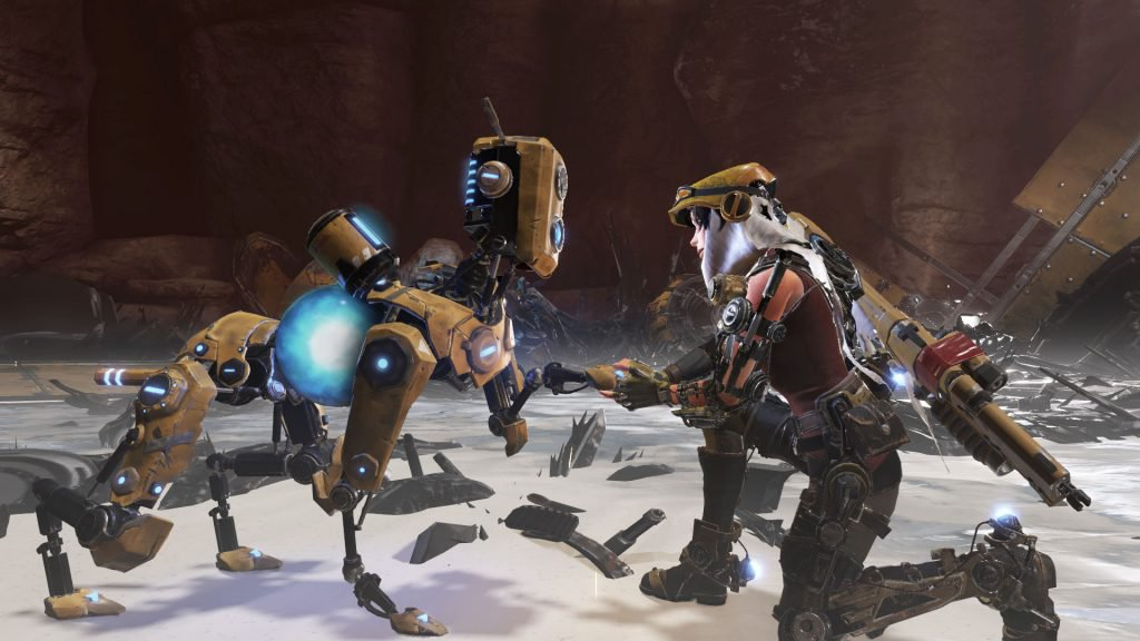 ReCore Joule and Mack Interacting