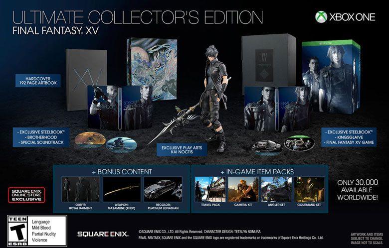La Ultimate Collector's de Final Fantasy XV no incluirá el pase de temporada