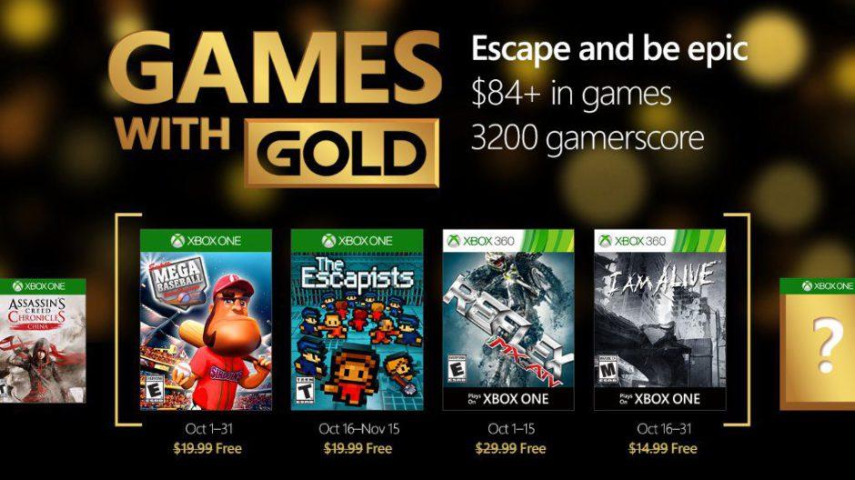 Ya disponibles I Am Alive y The Escapists de los Games with Gold de Octubre