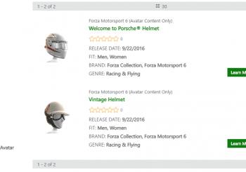 Vístete de Forza con estos seis artículos gratis para tu avatar en Xbox Live