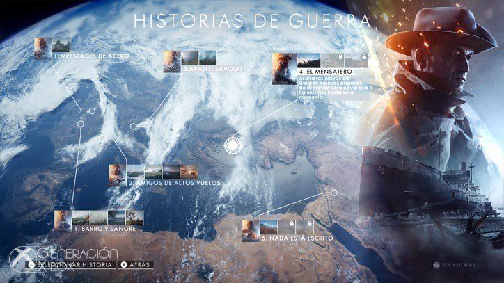 Selección de misiones del modo campaña