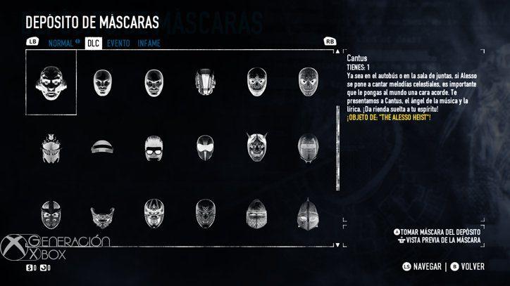 Con tantos DLC incluidos os costará decidiros por una máscara. En serio.