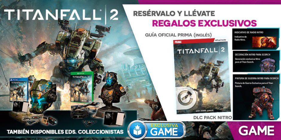 GAME nos trae en exclusiva ¡DOS! ediciones coleccionistas de Titanfall 2