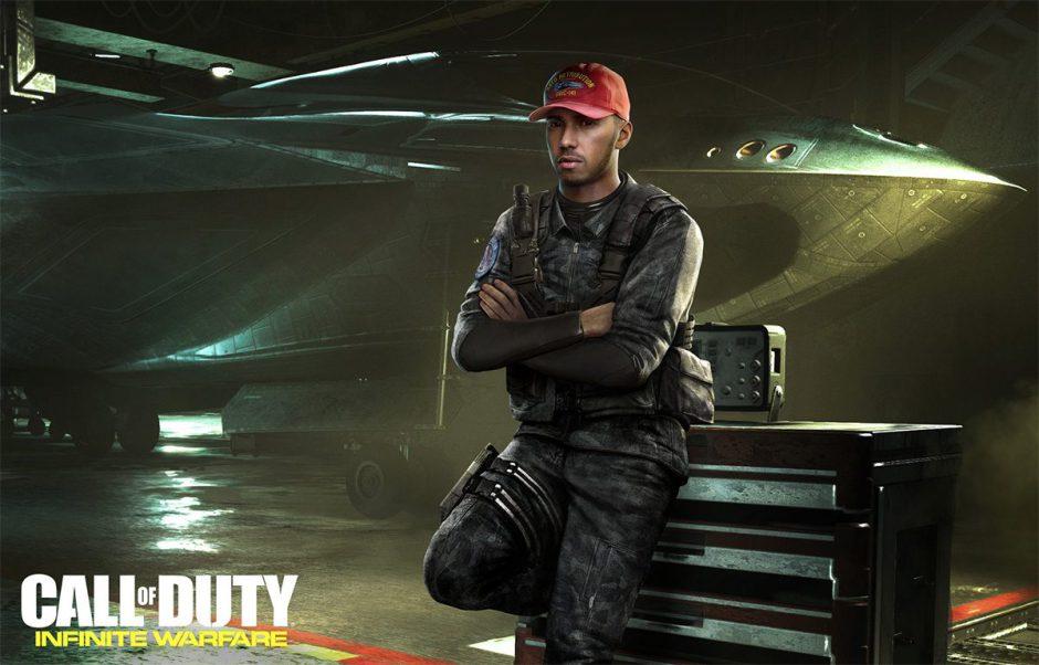 Hamilton es ahora también actor en Call of Duty Infinite Warfare