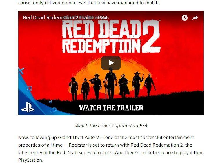 Captura directa del blog oficial de Playstation