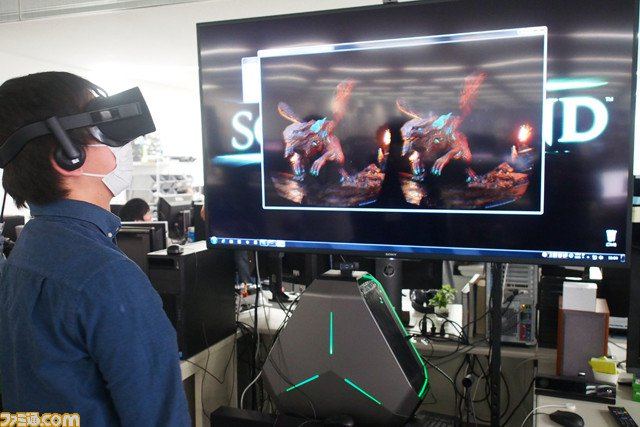 Jugando a la demo VR de Scalebound.