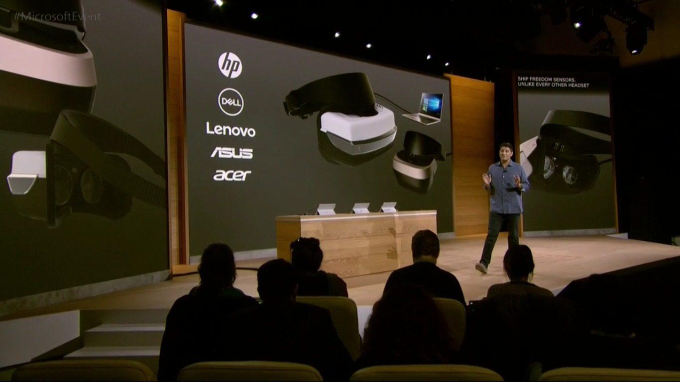 Presentación del headset VR de Microsoft.