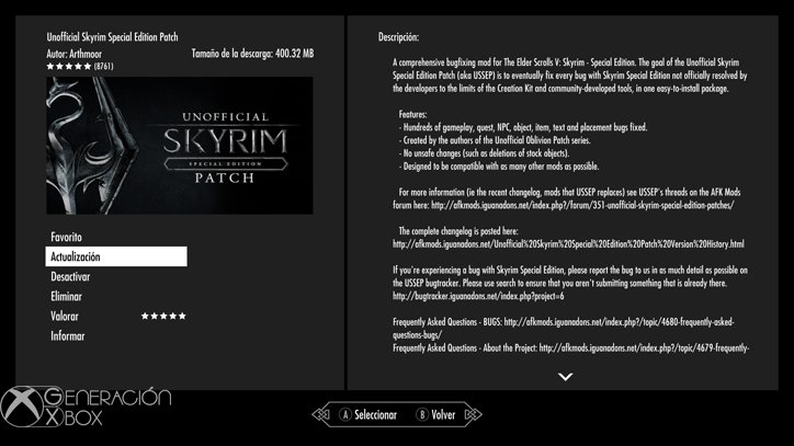skyrim-unofficial-patch-generacion-xbox-mods