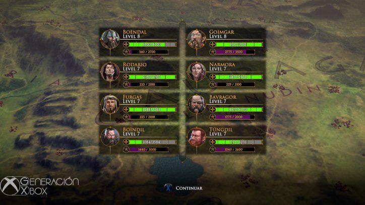 Aunque sólo luchen cuatro de nuestros personajes, todos ellos recibirán experiencia al finalizar un combate.