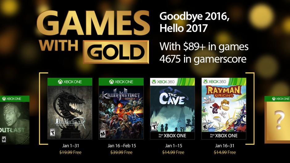 Estos son los Games With Gold del mes de Enero
