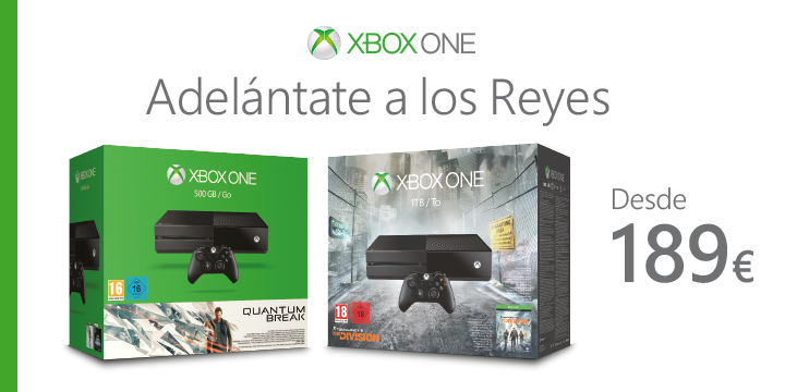 Rebaja oficial de Xbox One en España hasta el 30 de Diciembre: 189€