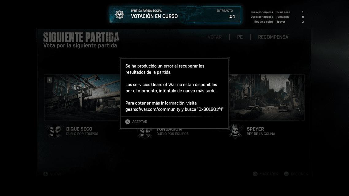 Los servidores de Gears of War 4 sufren problemas