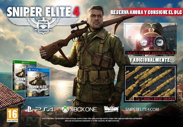 Sniper Elite 4 ya tiene fecha de lanzamiento en Xbox One, te damos todos los detalles 1