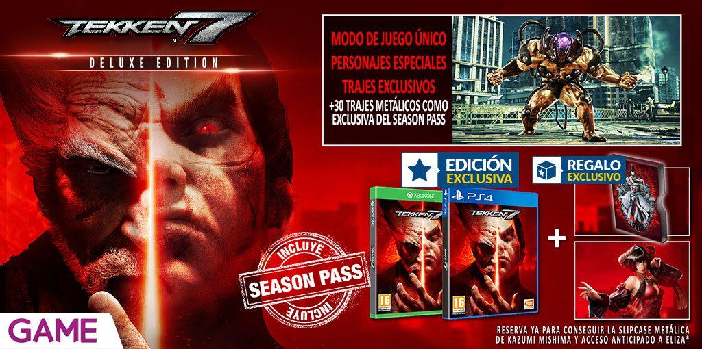 La edición deluxe de Tekken 7 llegará de forma exclusiva a GAME