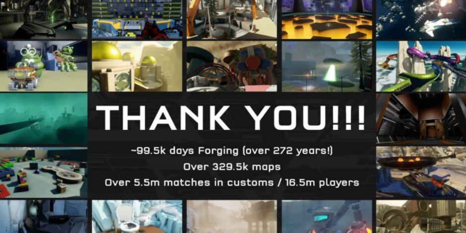 Más de 16 millones y medio de jugadores han jugado a Forge en Halo 5: Guardians