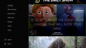 Primeras imágenes del diseño de la aplicación MyTube en Xbox One