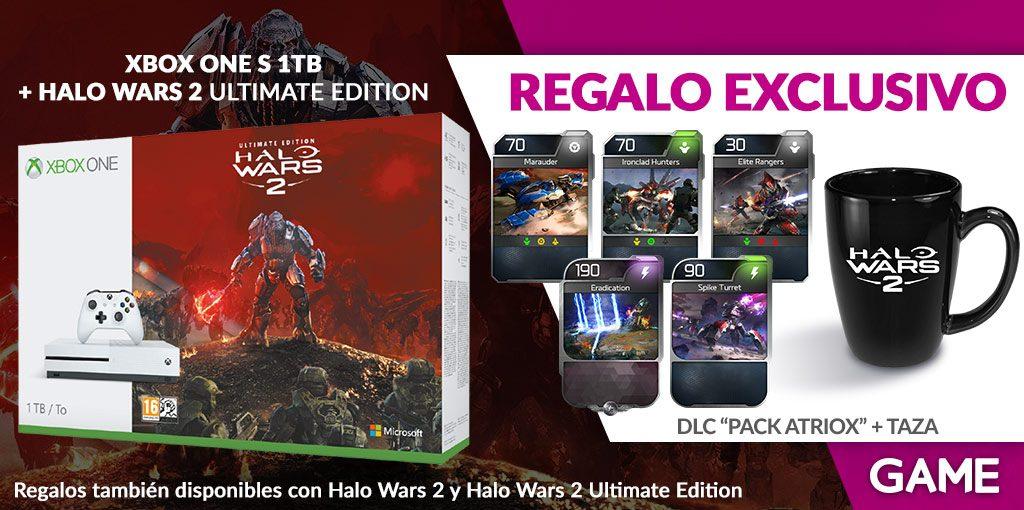 GAME nos trae un pedazo de pack de Xbox One S + Halo Wars 2 con regalos exclusivos