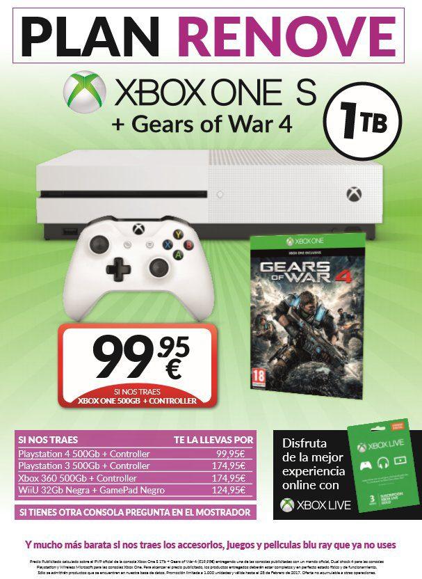[Actualizada] El plan renove de GAME hará que no te lo pienses mucho para acceder a una Xbox One S 1
