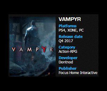 Focus Home Interactive confirma Vampyr y Call of Cthulhu para finales de este año