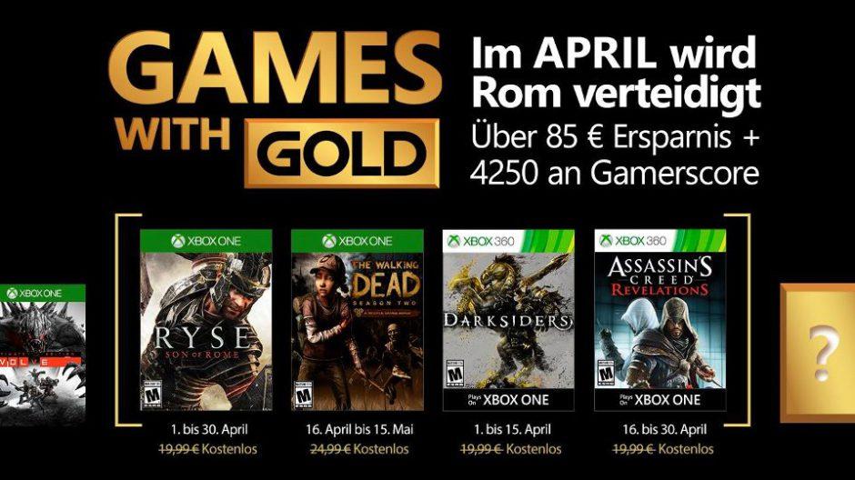 ¿Ryse al fin en los Games with Gold? Pues si, ya está confirmado para abril