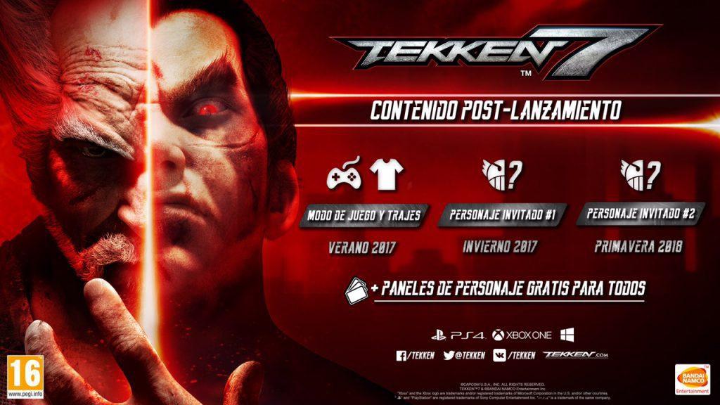 Tekken 7 incluirá invitados muy especiales en sus proximos Dlcs