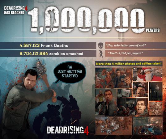 1.000.000 de jugadores han vuelto a Willamette con Frank West y Dead Rising 4