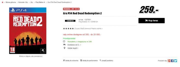 Media Markt Italia se suma al baile de fechas de Red Dead Redemption 2