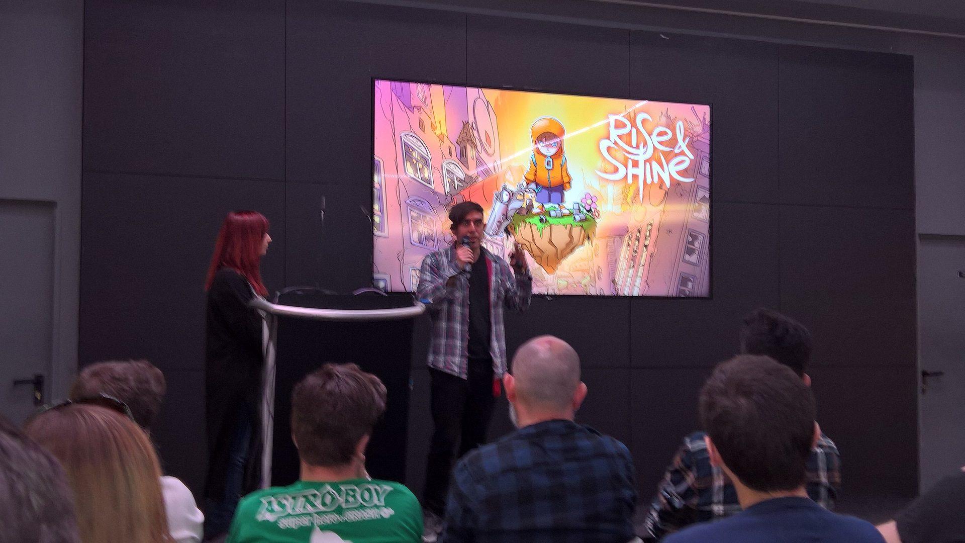 El equipo de Super Mega Teamine charlando sobre Rise & Sh