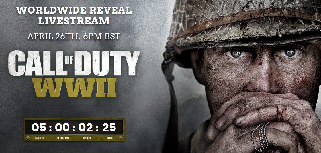 Call of Duty WWII ya es oficial y comienza la cuenta atrás para su presentación
