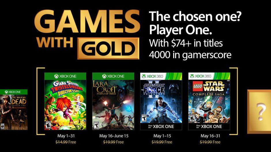 Lara Croft y LEGO ya están disponibles para descargar con los GOLD de mayo