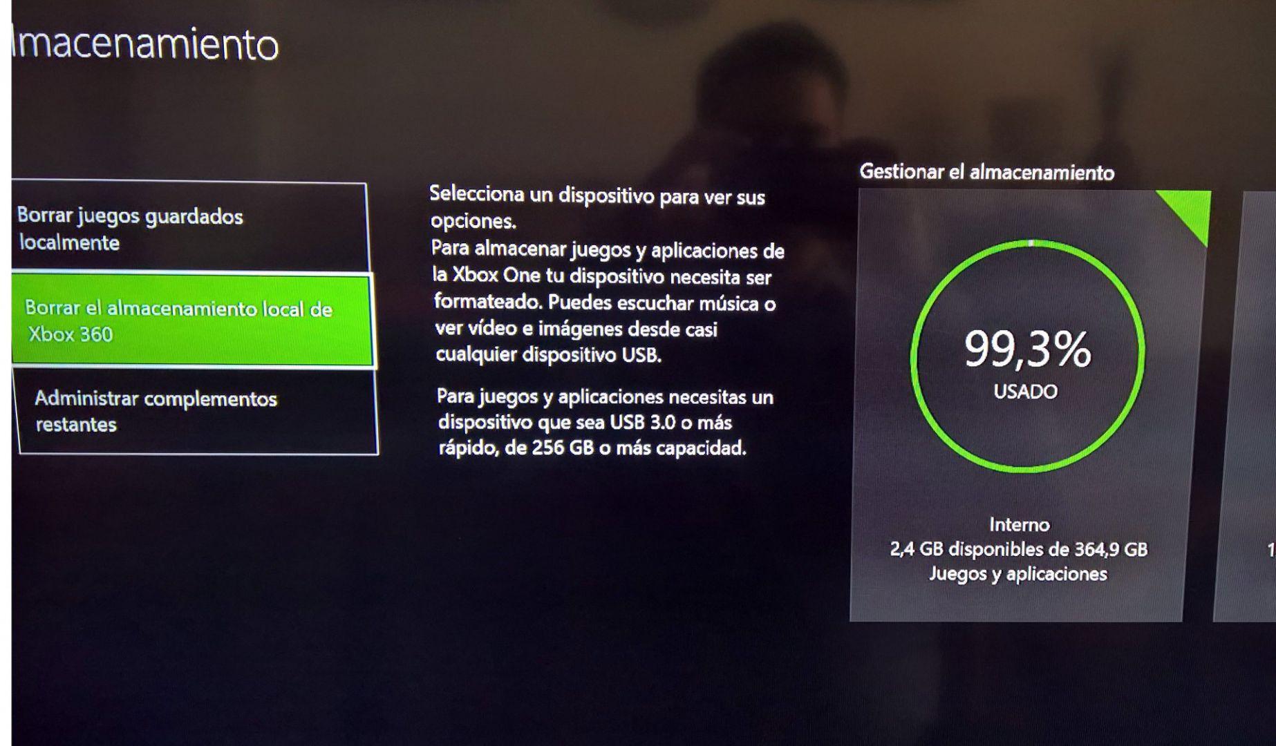 Almacenamiento Inteligente de Xbox