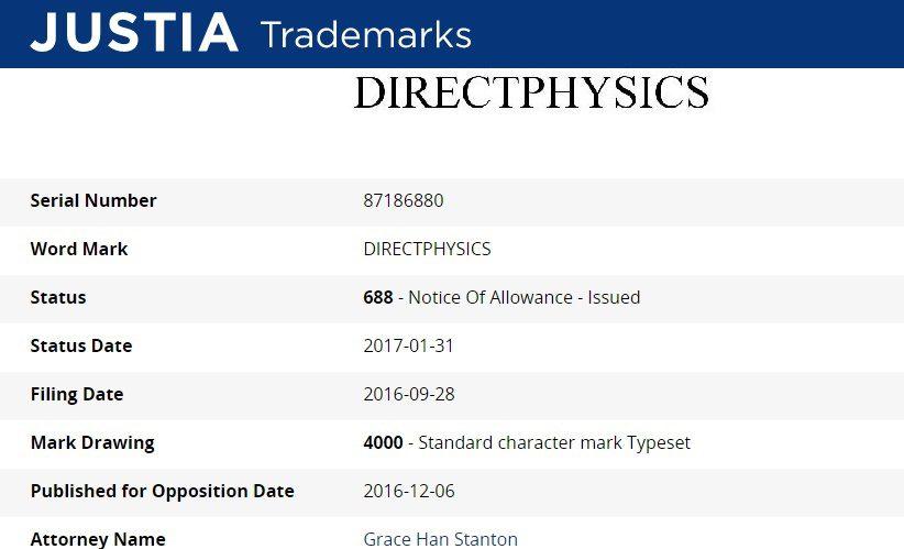 Microsoft patenta la marca Directphysics ¿Nueva herramienta para DirectX 12?