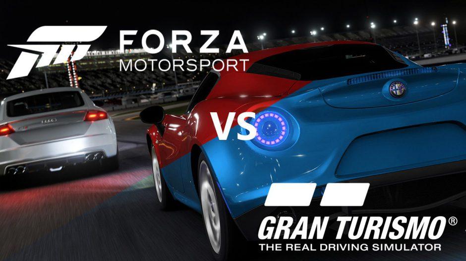 Gameplay de Gran Turismo Sport BETA versus Forza Motorsport 6