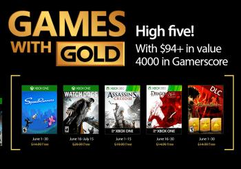Ya conocemos los Juegos con Gold del mes de junio