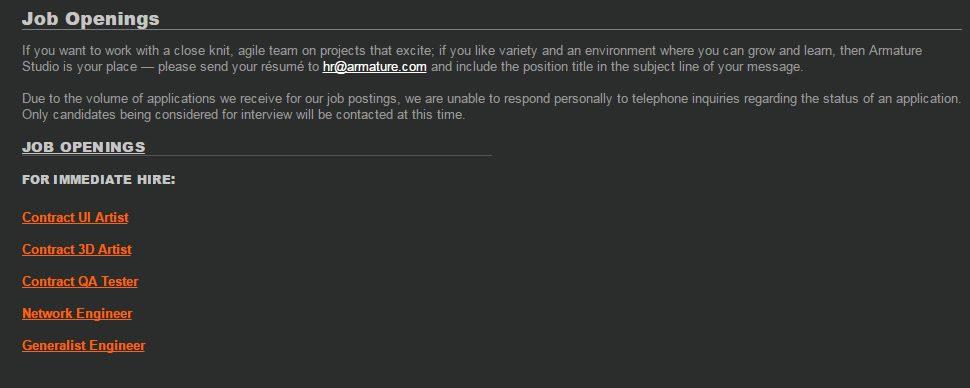 Armature Studios prepara un anuncio importante ¿DLC, nueva IP, Steam?