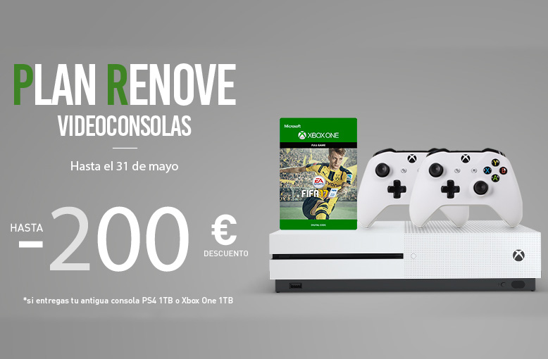 Consigue una Xbox One S por tan solo 89€ con el plan renove de Carrefour